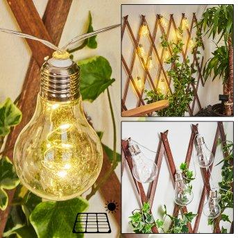 Markhus catena di luce solare LED Trasparente, chiaro, 10-Luci
