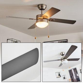 Hamnvik ventilatore da soffitto Nichel opaco, 1-Luce