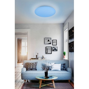 Reality WIZ FARA Plafoniera LED Bianco, con effetto brillante, 1-Luce, Cambia colore