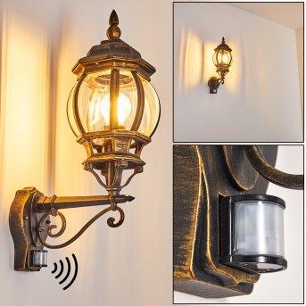Lentua Applique da esterno Marrone, Oro, 1-Luce, Sensori di movimento