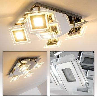 Cerreto Plafoniera LED Cromo, 5-Luci