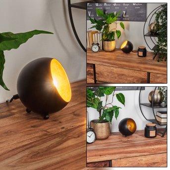 Hajo Lampada da Tavolo Nero-Oro, 1-Luce