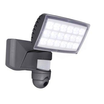 Applique da esterno Lutec PERI CAM LED Antracite, 1-Luce, Sensori di movimento