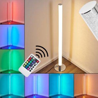 Flaut Lampada da terra LED Cromo, 1-Luce, Telecomando, Cambia colore
