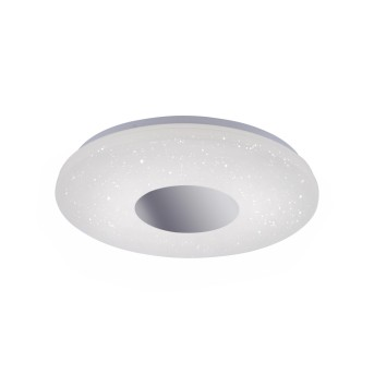 Leuchten Direkt LAVINIA Plafoniera LED Cromo, 1-Luce, Sensori di movimento