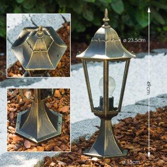Hongkong Lampada con piedistallo Oro, Bronzo, 1-Luce
