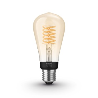 Philips Hue LED White Filament ST64 E27 7 Watt 2100 Kelvin 600 Lumen