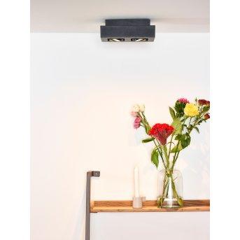 Faretto da soffitto Lucide XIRAX LED Nero, 2-Luci