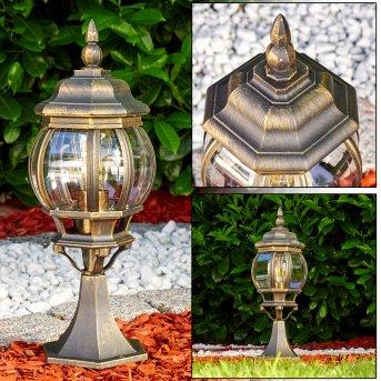Lentua Lampada con piedistallo Marrone, Oro, 1-Luce