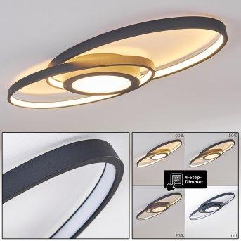 Chunky Plafoniera LED Grigio, 1-Luce