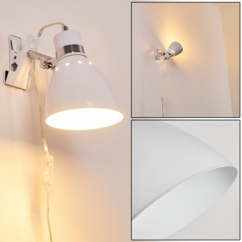 Stranderott Lampada con pinza Bianco, 1-Luce