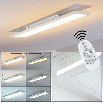Salmi Plafoniera LED Bianco, 1-Luce, Telecomando