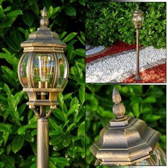 Lentua Lampada da terra per esterno Marrone, Oro, 1-Luce