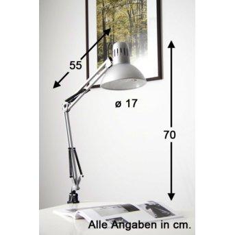 Brilliant Hobby Lampada con pinza Acciaio inox, Titanio, 1-Luce