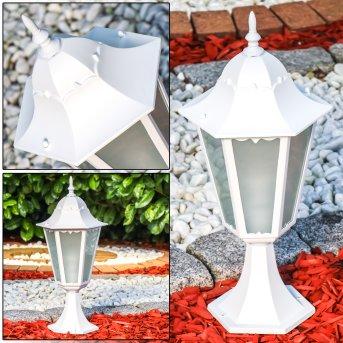 Hongkong Frost Lampada con piedistallo Bianco, 1-Luce