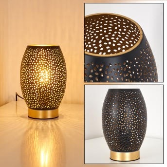 Lampada da Tavolo Saksborg Nero-Oro, 1-Luce