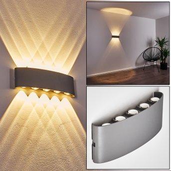 Abaiang Applique da esterno LED Argento, 10-Luci
