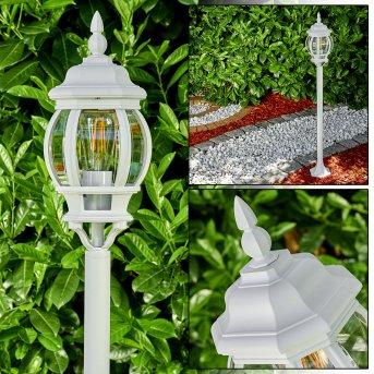 Lentua Lampada da terra per esterno Bianco, 1-Luce