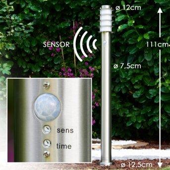Tunes Illuminazione viale Acciaio inox, 1-Luce, Sensori di movimento