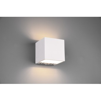 Trio Figo Applique LED Bianco, 1-Luce, Telecomando, Cambia colore
