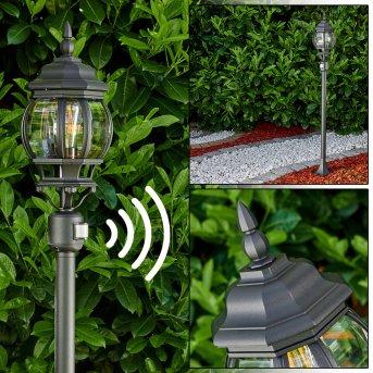 Lentua Lampada da terra per esterno Nero, 1-Luce, Sensori di movimento