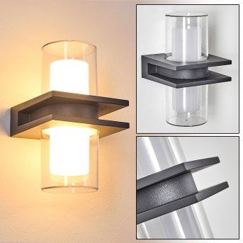 Kekenis Applique da esterno LED Antracite, 1-Luce