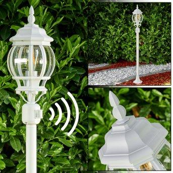 Lentua Lampada da terra per esterno Bianco, 1-Luce, Sensori di movimento