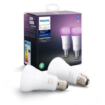 Philips Hue LED Set di 2 Ambiance White & Color E27 9,5 Watt 6500 Kelvin 806 Lumen