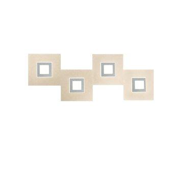Grossmann Karree Applique LED Titanio, 4-Luci