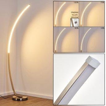 Antares Lampada da terra LED Nichel opaco, 1-Luce