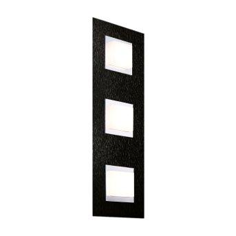 Grossmann BASIC Applique e plafoniera LED Nero, 3-Luci