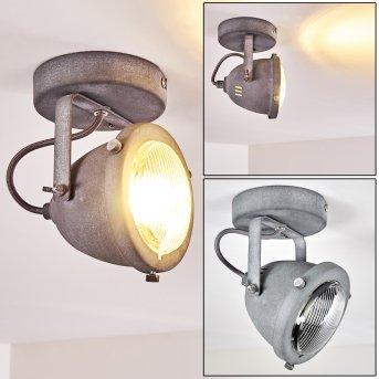 Glostrup Plafoniera LED Grigio, 1-Luce