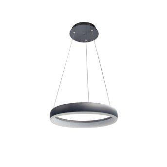 WOFI CLINT Lampada a Sospensione LED Nero, 1-Luce, Telecomando
