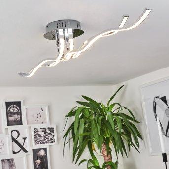 Corato Plafoniera LED Cromo, 1-Luce