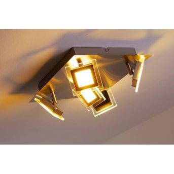 Wofi Cholet Plafoniera LED Nichel opaco, 5-Luci