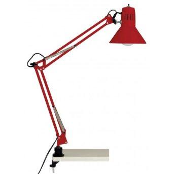 Brilliant Hobby Lampada da tavolo con pinza *69188 Lampada da Tavolo con morsetto * 67895 Rosso, 1-Luce