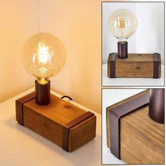 Balakovo Lampada da tavolo Ruggine, Legno scuro, 1-Luce