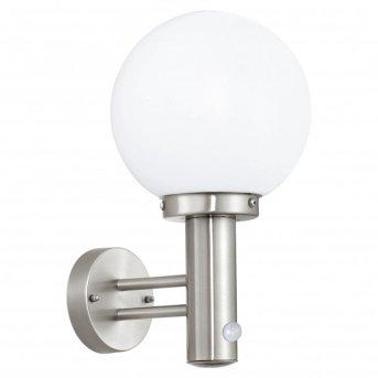 Eglo NISIA Applique Acciaio inox, 1-Luce, Sensori di movimento