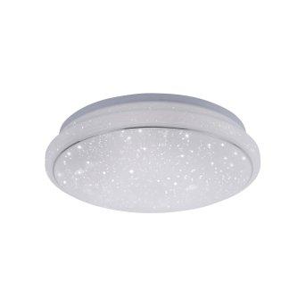 Leuchten Direkt Ls-JUPI Plafoniera LED Bianco, 1-Luce, Telecomando, Cambia colore