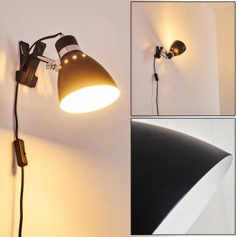 Stranderott Lampada con pinza Cromo, Nero, 1-Luce