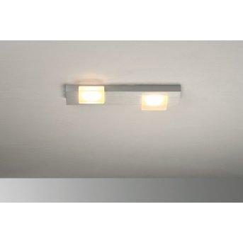 Bopp Lamina Plafoniera LED Alluminio, 2-Luci