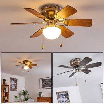 Trillo ventilatore da soffitto Nichel opaco, 1-Luce
