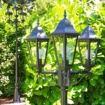 Hongkong Lampione Nero, Trasparente, chiaro, 3-Luci