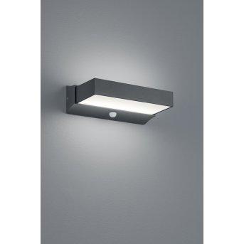 Trio CUANDO Applique da esterno LED Antracite, 1-Luce, Sensori di movimento