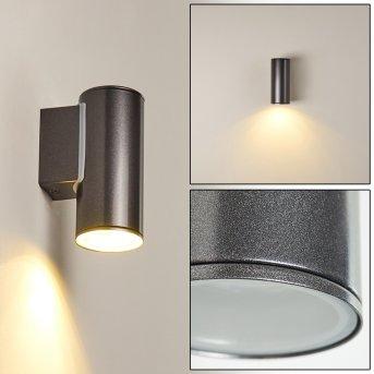 Brachy Applique da esterno LED Nero, 2-Luci