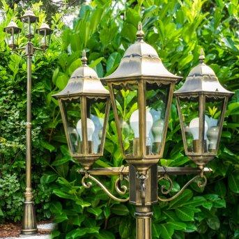 Hongkong Lampione bronzo Trasparente, chiaro, 3-Luci