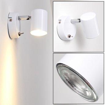 Chennai Applique LED Cromo, Bianco, 1-Luce