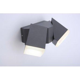 Paul Neuhaus RYAN Applique LED Antracite, 2-Luci