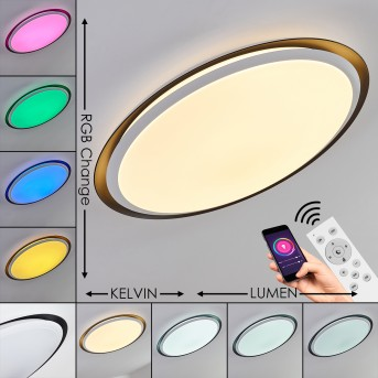 Vejle Plafoniera LED Bianco, 2-Luci, Cambia colore