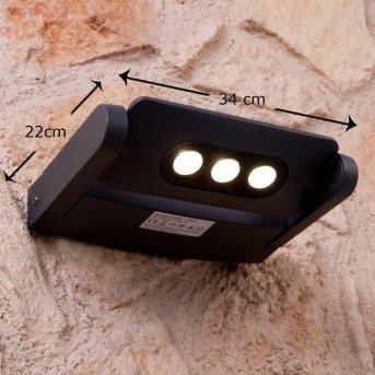 Lutec LEADSPOT Applique per esterno LED Antracite, 3-Luci